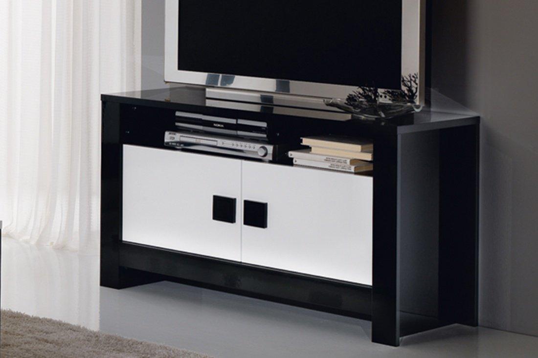 Tv Kast Zwart Wit.Pisa Tv Kast Zwart Wit 005 Luxvesa